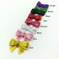 30pcs/lot 8colors 5cm DIY Shiny Sequin Bows Knot Without Clips Hair Bows