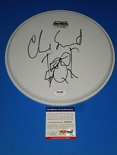 CHAD SMITH RED HOT CHILLI PEPPERS,CHICKENFOOT DRUMMER SIGNED DRUMHEAD psa/dna