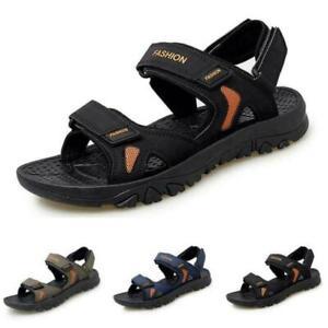 Men Open Toe Walking Sports Flats Casual Summer Beach Slingbacks Sandals Shoes