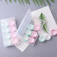 7 Pack / Set Contact Lens Cases Storage Box Tweezers Stick Lens Holder
