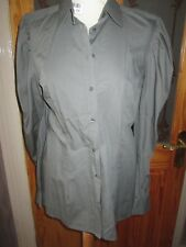 NEXT Khaki Long Sleeve Cool Cotton Summer Blouse Top Size 12 With Tags