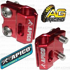 Apico Red Brake Hose Brake Line Clamp For Honda XR 400 Motard 2008 MotoX Enduro
