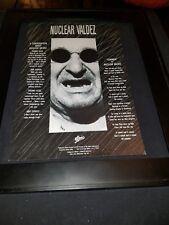 Nuclear Valdez Summer Rare Original Radio Promo Poster Ad Framed