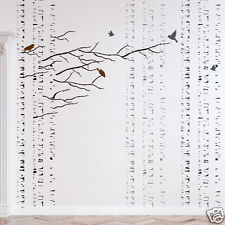 Birches Tree Stencil, Large Reusable Forest Stencils for Walls Home DIY deco
