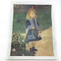Girl with a Watering Can French Wall Art Impressionist Print Auguste Renoir 1970