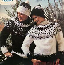 FU13-Tejer patrón-Navidad Jumpers & Beanie Bobble sombreros - 5 Tamaños