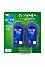 Nicorette Cools 2mg Icy Mint Lozenge 4 x 20 Lozenges Stop Smoking Aid