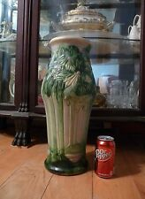 "ROSEVILLE unmarked 18"" VISTA Pattern FLOOR VASE w/ Stylized FOREST Trees"