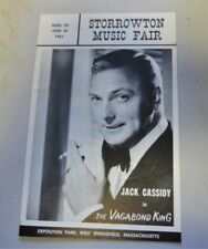 Jack Cassidy  The Vagabond King Playbill Storrowton Music Fair Springfield Mass
