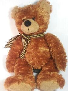 "Russ Brown Teddy Bear Ripley Classic Soft Plush Stuffed Animal 12"" EUC"