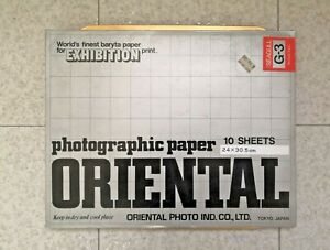 ORIENTAL Exhibition Photographic Seagull G-3 Bromide Paper 4/5 Sheet 24x30.5