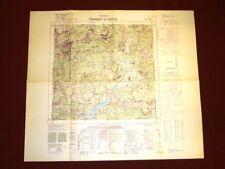 Grande carta topografica Tramonti di Sotto Pordenone Friuli Dettagliatissima IGM