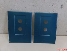 2 pair Wingits Contour Oval Shower Rod Cover Plate Polished Stainless Blue Satin