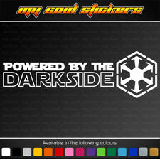 Powered By The Darkside Vinyl Sticker Decal for car, ute, truck,window Star Wars