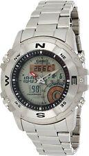 Casio Outgear Hunting Timer Moon Phase Anadigi Stainless Steel Watch AMW-704-7AV