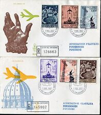 VATICAN 1967 AIR MAIL/ARCHITECTURE/St.PETER BASILICA/RADIO TOWER/PLANES/ART FDC