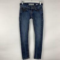 BKE Buckle Jeans Women's Size 26 Stella Skinny Mid Rise Medium Wash Distressed