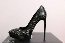 YSL Yves Saint Laurent Studded Janis Black Platform Pumps Shoes 40 10 $995