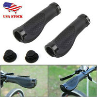 1 Pair Rubber MTB Mountain Bike Bicycle Handlebar Grips Cycling Lock-On Ends USA