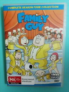 Family Guy Season 4 DVD 3 disc set LIKE NEW R4 Rated M15+