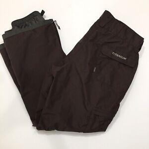 Columbia Titanium Brown Snow Ski Pants Size XL Omnitech Mens