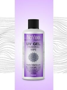 UV Nail Gel Finishing Wipe, Sticky Residue Remover,Cleanser, Brush Cleaner 100ml