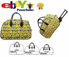 Kids Boys Girls Hand Luggage Minion Print Design Trolley Bag Travel Handbag Suit