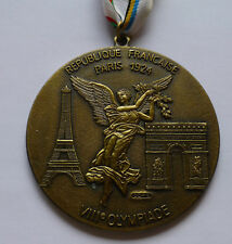 Paris 1924 Summer Olympics - Games of the VIII Olympiad decoration medal