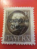 """1919 - Mi.Nr.128 II A - 1 M - Freimarke """"König Ludwig III. - ungebr. m. Falzr."""