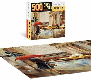 """500 Piece Jigsaw Puzzle Adults Kids Educational Learning """"In The City"""""""