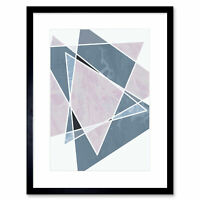 Abstract Pattern Lilac Triangles Artistic Shape Design Framed Art Print