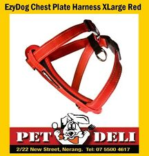 EzyDog Chest Plate Dog Car Harness XLarge Red - Free Fastway Courier