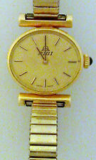 Rigi, Swiss, Battery, Analogue, Flexi strap, gold face, Gold plated,Ladies Watch