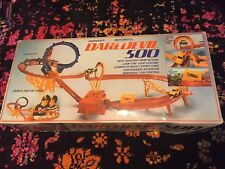 RARE Vintage 1970s Motorized Daredevil 500 Stunt Car Set 100% Complete!