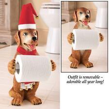 Christmas Season Dog Toilet Paper Holder