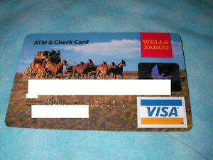 Credit Charge ATM Check Card Wells Fargo Bank 2003 South West Stage Coach Visa