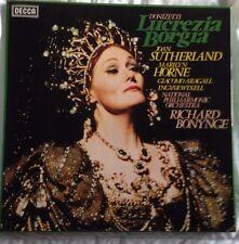 DONIZETTI Lucrezia Borgia RICHARD BONYNGE TRIPLE VINYL LP BOX SET DECCA D93D 3