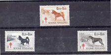 Finlandia Fauna Perros Pro Tuberculosos Serie del año 1965 (DH-931)