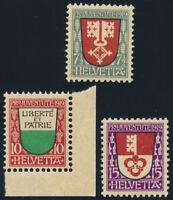 SCHWEIZ 1919, MiNr. 149-151, 149-51, tadellos postfrisch, Mi. 40,-