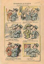 Caricature Gendarme Boy-Scout Uniforme Couteau Académicien Epée Député 1936