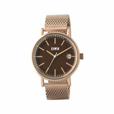 Edwin EPIC Men's 3 Hand-Date Watch, Rose Gold Stainless Steel Case and Mesh Band