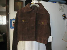 NEW GIRLS RUE 21 BROWN LEATHER HALF JACKET SIZE SMALL