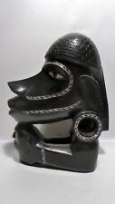 EARLY SOLOMON ISLANDS CANOE PROW HEAD NGUZU-NGUZU INLAID PEARL SHELL