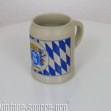 alter 0,5 Liter HB Steingut Bierkrug Bierseidel München 70er Jahre West Germany