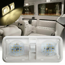 12V 48LED 2835 SMD Interior Double Dome Ceiling Light Switch For RV Boat Camper