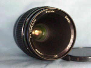 CANON FD VIVITAR 55mm F2.8 MACRO 1:1 LENS MC VERSION