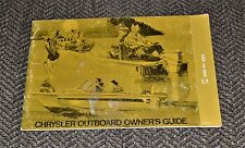VTG 1971 Chrysler Outboard Owners Guide 6 & 8 H.P.