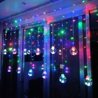 Transparent Wishing Balls Led Fairy String Lights Curtain Christmas Party Decor