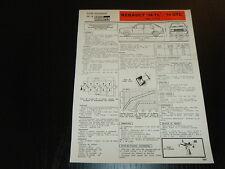 """FICHE TECHNIQUE RTA RENAULT """"14 TL"""" et """"14 GTL""""  R1210 (1980) (CL2)"""