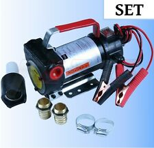 KIT Oil Pump 12V SET Diesel Transfer 40LPM Biodiesel 12 Volt Heavy Duty Portable